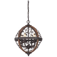 Quoizel Chamber 4 Light Foyer Chandelier in Darkest Bronze CHB5204DK
