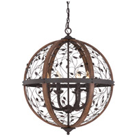 Quoizel CHB5206DK Chamber 6 Light 24 inch Darkest Bronze Foyer Chandelier Ceiling Light