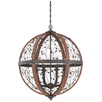 Quoizel Chamber 8 Light Foyer Chandelier in Darkest Bronze CHB5208DK