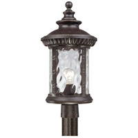 Quoizel Lighting Chimera 1 Light Outdoor Post Lantern in Imperial Bronze CHI9011IB