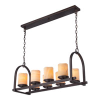Quoizel Lighting Aldora 8 Light Island Light in Palladian Bronze CKAD836PN