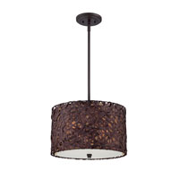 Quoizel Lighting Aruba 3 Light Pendant in Painted Bronze CKAR2816PZ