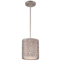 Quoizel Lighting Confetti 1 Light Mini Pendant in Old Silver CKCF1508OS