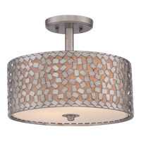 Quoizel Confetti 2 Light Semi-Flush Mount in Old Silver CKCF1714OS