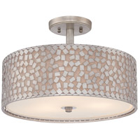 Quoizel Lighting Confetti 3 Light Semi-Flush Mount in Old Silver CKCF1717OS