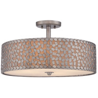 Quoizel Confetti 4 Light Semi-Flush Mount in Old Silver CKCF1720OS