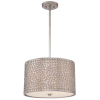 Quoizel Lighting Confetti 3 Light Pendant in Old Silver CKCF2816OS