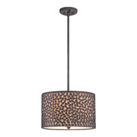 Confetti 3 Light 16 inch Rustic Black Pendant Ceiling Light
