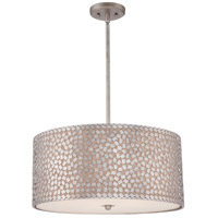 Quoizel Lighting Confetti 4 Light Pendant in Old Silver CKCF2822OS