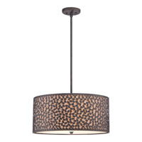 Quoizel Confetti 4 Light Pendant in Rustic Black CKCF2822RK