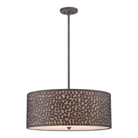 Confetti 5 Light 25 inch Rustic Black Pendant Ceiling Light