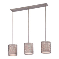 Quoizel Confetti 3 Light Island Chandelier in Old Silver CKCF339OS