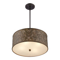 Quoizel Lighting Fleur 4 Light Pendant in Mystic Black CKFR2820K alternative photo thumbnail