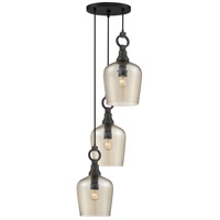 Quoizel CKKD2717WT Kendrick 3 Light 17 inch Western Bronze Pendant Ceiling Light