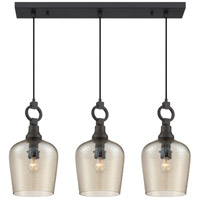 Quoizel CKKD331WT Kendrick 3 Light 31 inch Western Bronze Island Chandelier Ceiling Light