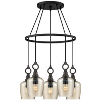 Quoizel CKKD5027WT Kendrick 5 Light 27 inch Western Bronze Island Chandelier Ceiling Light