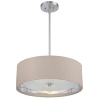 Metro 3 Light 20 inch Brushed Nickel Pendant Ceiling Light