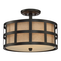 Quoizel Marisol 3 Light Semi-Flush Mount in Teco Marrone CKMS1716TM
