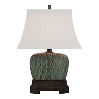 Quoizel Lighting Niagra 1 Light Table Lamp in Green and Brown CKNA1470T alternative photo thumbnail