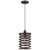 Nikos 1 Light 9 inch Burnished Silver Mini Pendant Ceiling Light