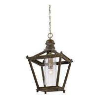 Sanctuary 1 Light 18 inch Driftwood Foyer Pendant Ceiling Light in A19 Medium Base