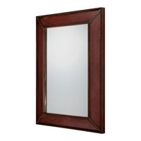 Quoizel Lighting Stanley Mirror in Dark Cinnamon Leather CKSY44030DL