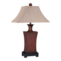 Quoizel Lighting Stanley 1 Light Table Lamp in Dark Cinnamon Leather CKSY6335DL alternative photo thumbnail