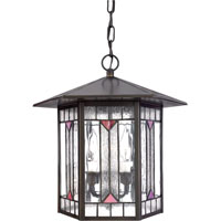 Quoizel Lighting Chaparral 3 Light Outdoor Hanging Lantern in Medici Bronze CL1264Z photo thumbnail