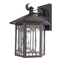 Quoizel Lighting Chaparral 1 Light Outdoor Wall Lantern in Medici Bronze CL8427Z alternative photo thumbnail