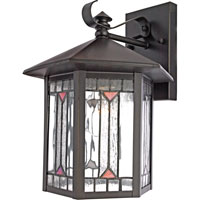 Quoizel Lighting Chaparral 1 Light Outdoor Wall Lantern in Medici Bronze CL8427Z photo thumbnail