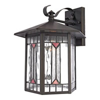 Quoizel Lighting Chaparral 1 Light Outdoor Wall Lantern in Medici Bronze CL8428Z photo thumbnail