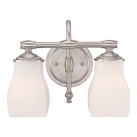 Quoizel Clarke 2 Light Bath Light in Brushed Nickel CLE8602BN
