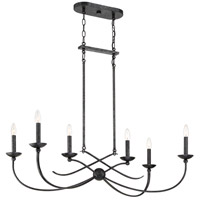 Quoizel CLL638OK Calligraphy 6 Light 38 inch Old Black Island Chandelier Ceiling Light