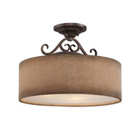 Quoizel Lighting Carlsbad 3 Light Semi-Flush Mount in Old Bronze CLS1717OZ