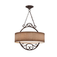 Quoizel Lighting Carlsbad 4 Light Pendant in Old Bronze CLS2820OZ