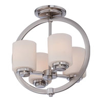 Celestial 4 Light 14 inch Brushed Nickel Semi-Flush Mount Ceiling Light