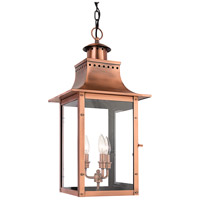 Chalmers 3 Light 12 inch Aged Copper Outdoor Hanging Lantern