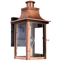 Quoizel Lighting Chalmers 1 Light Outdoor Wall Lantern in Aged Copper CM8408AC