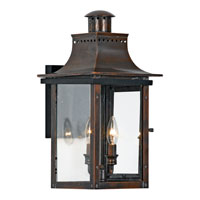 Quoizel CM8410AC Chalmers 2 Light 21 inch Aged Copper Outdoor Wall Lantern alternative photo thumbnail