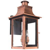 Quoizel Lighting Chalmers 2 Light Outdoor Wall Lantern in Aged Copper CM8410AC