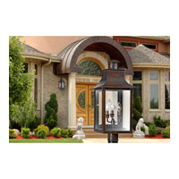 Quoizel Lighting Chalmers 3 Light Outdoor Post Lantern in Aged Copper CM9012AC alternative photo thumbnail