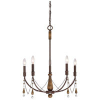 Concord 5 Light 22 inch Tuscan Brown Chandelier Ceiling Light