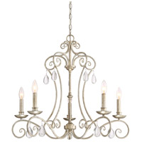 Chantelle 5 Light 28 inch Vintage Gold Chandelier Ceiling Light