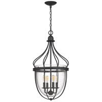 Quoizel CNY5204GK Colony 4 Light 15 inch Grey Ash Foyer Chandelier Ceiling Light