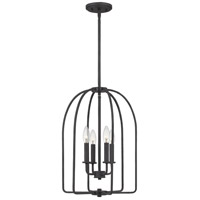 Quoizel COL5214MK Cornell 4 Light 14 inch Marcado Black Foyer Pendant Ceiling Light