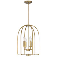 Quoizel COL5214WS Cornell 4 Light 14 inch Weathered Brass Foyer Pendant Ceiling Light