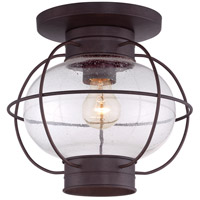 Quoizel Cooper 1 Light Outdoor Flush Mount in Copper Bronze COR1611CU