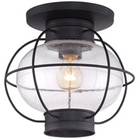Quoizel Cooper 1 Light Outdoor Flush Mount in Mystic Black COR1611K