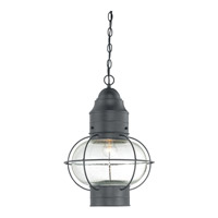 Quoizel Cooper 1 Light Outdoor Hanging Lantern in Mystic Black COR1914KFL
