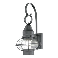 Cooper 1 Light 18 inch Mystic Black Outdoor Wall Lantern in Fluorescent
